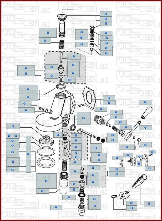 Siebträgerdichtung für Faema ø 73x57x8mm Brühkopfdichtung Gasket E61 E64 E66 E98